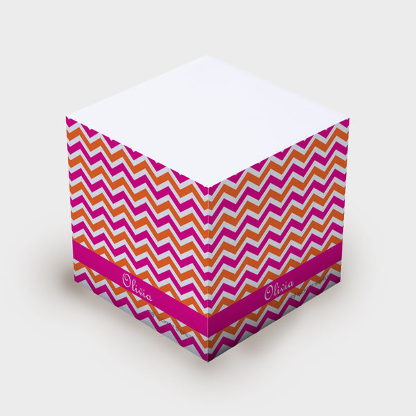 Pink Orange Chevron Sticky Notes