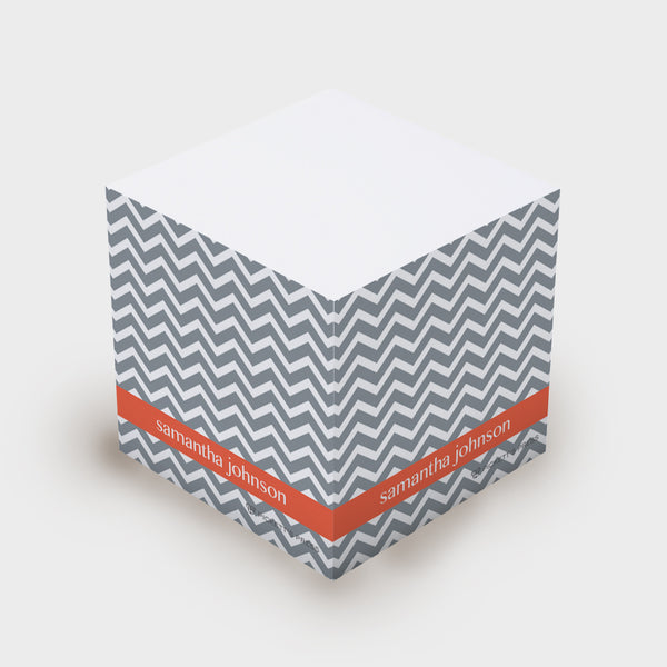 Gray Chevron Sticky Notes