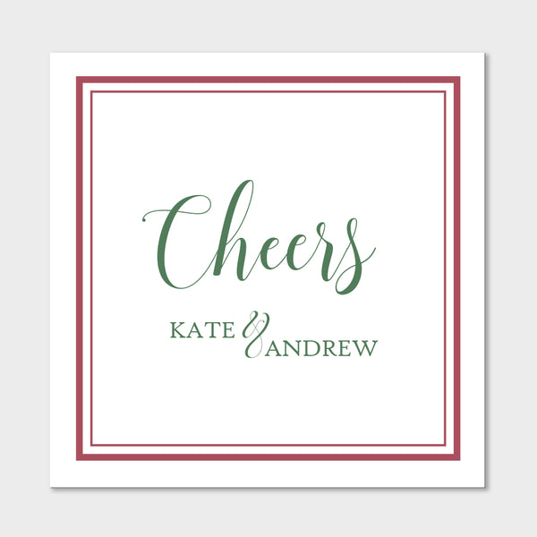 Green Cheers Gift Stickers