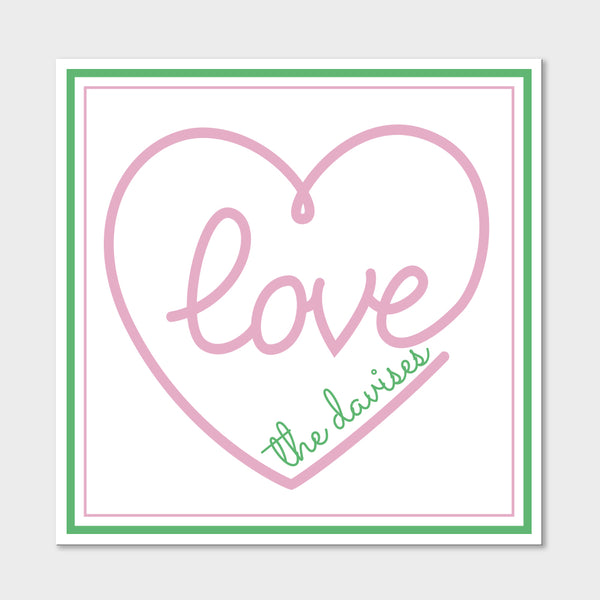 Pink Love Gift Stickers