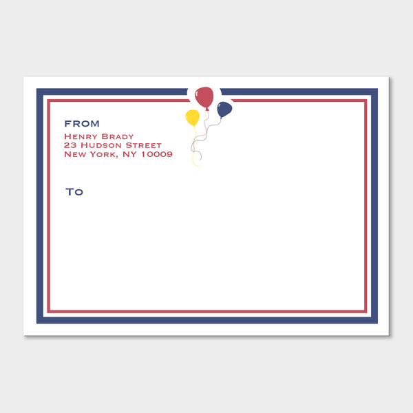 Balloons Mailing Labels