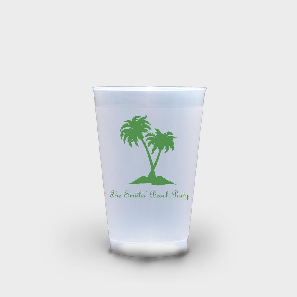 Palm Tree Roadie Cups 16 oz