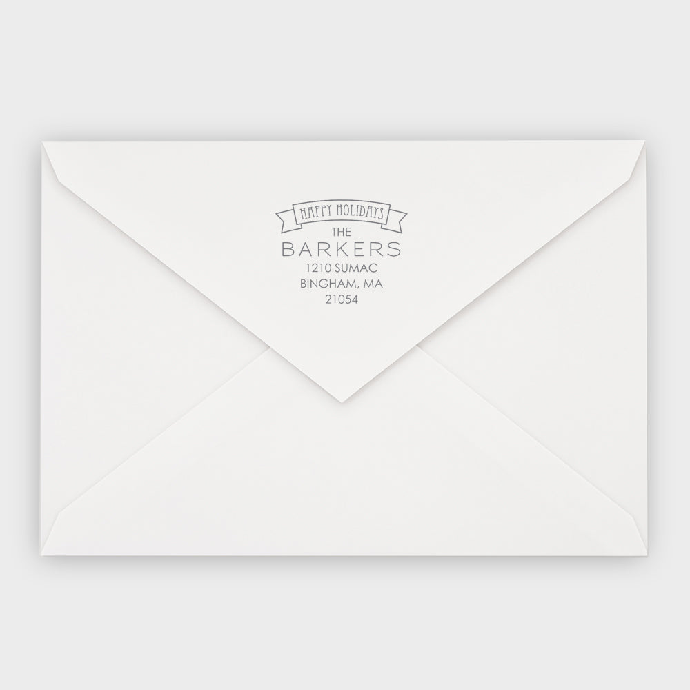 Barker Square Holiday Stamp