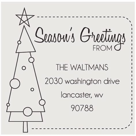 Christmas Tree Square Holiday Stamp