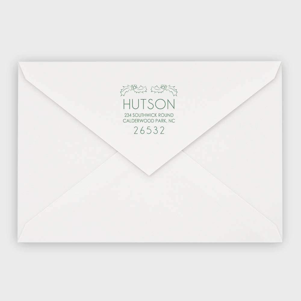 Hutson Holly Square Holiday Stamp
