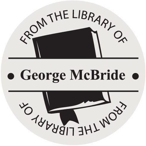McBride Library Round Stamp
