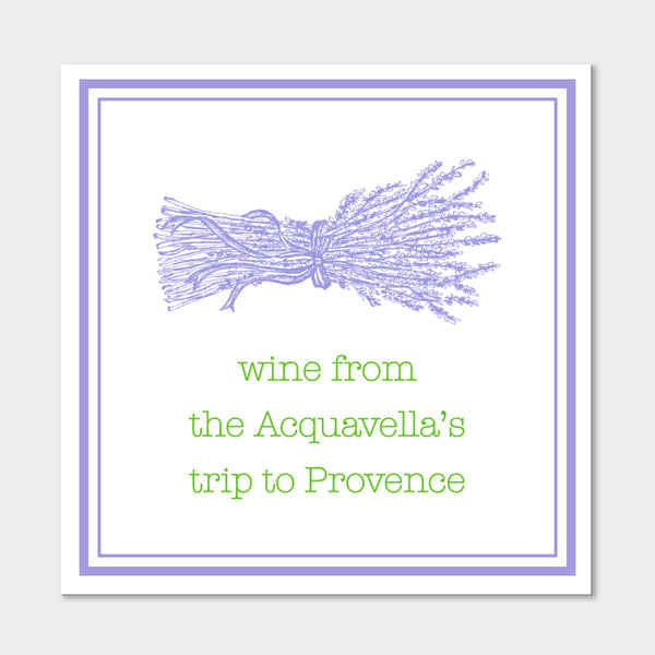 Lavender Wine Sticker