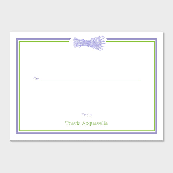 Lavender Fill In Gift Stickers