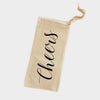Cheers Canvas Wine Tote