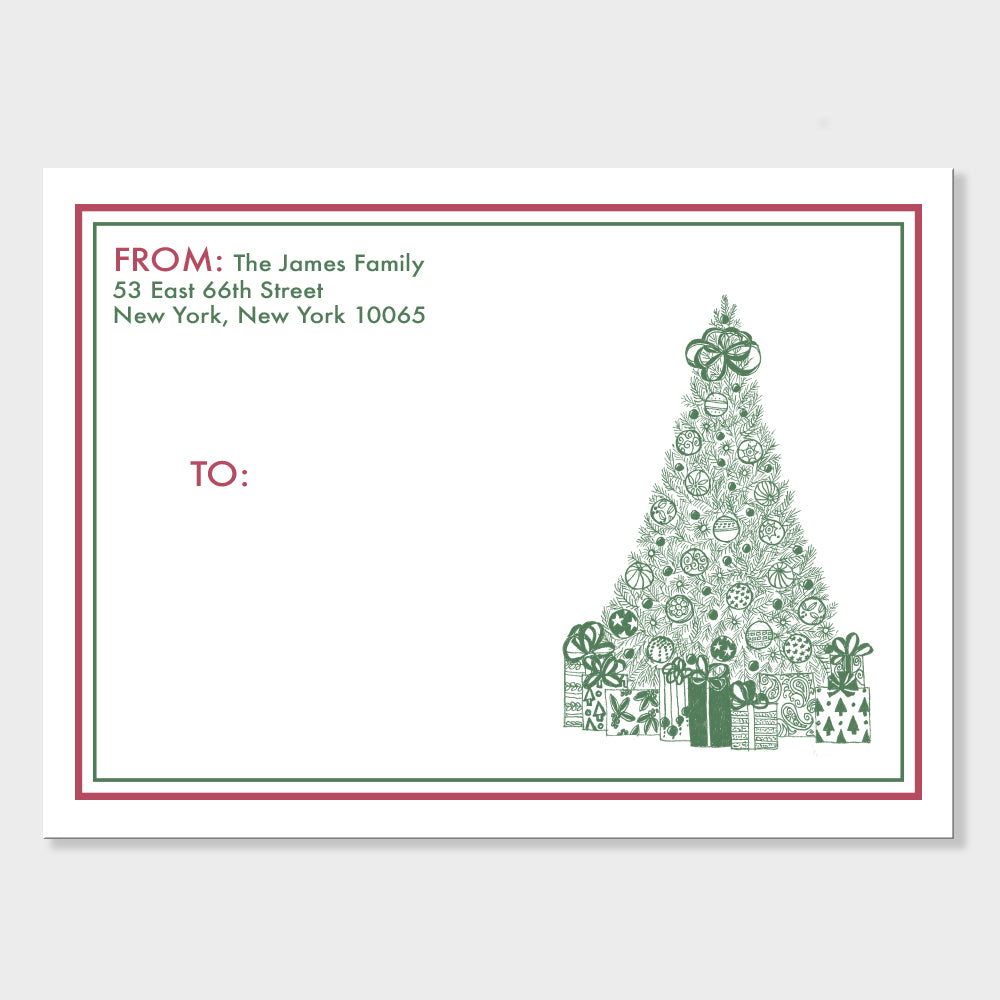 Christmas Tree Mailing Labels
