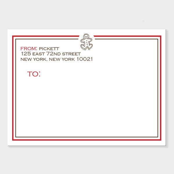Holiday Gingerbread Mailing Labels