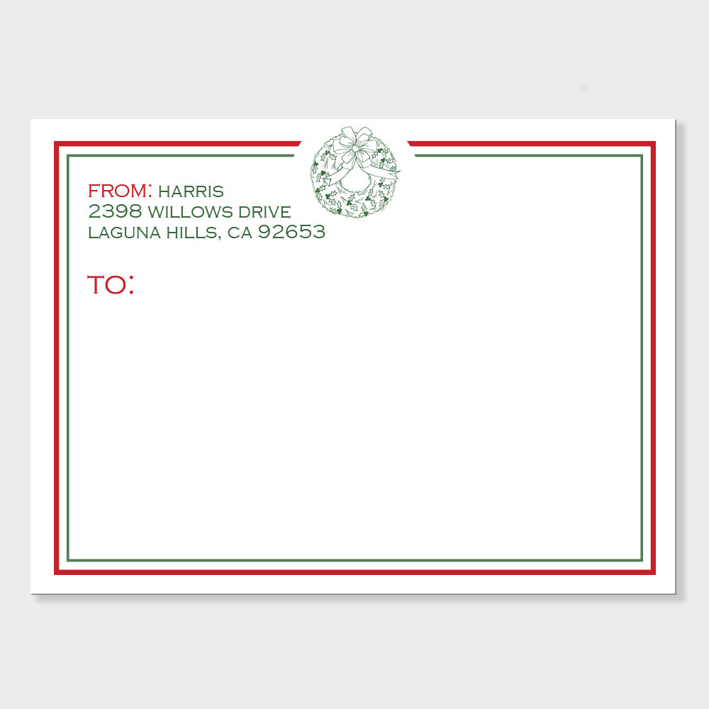 Wreath Mailing Labels