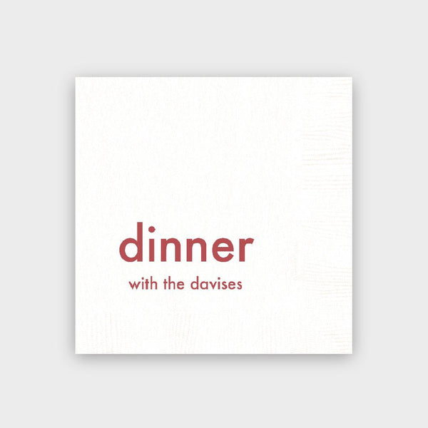Dinner with Holiday Napkins