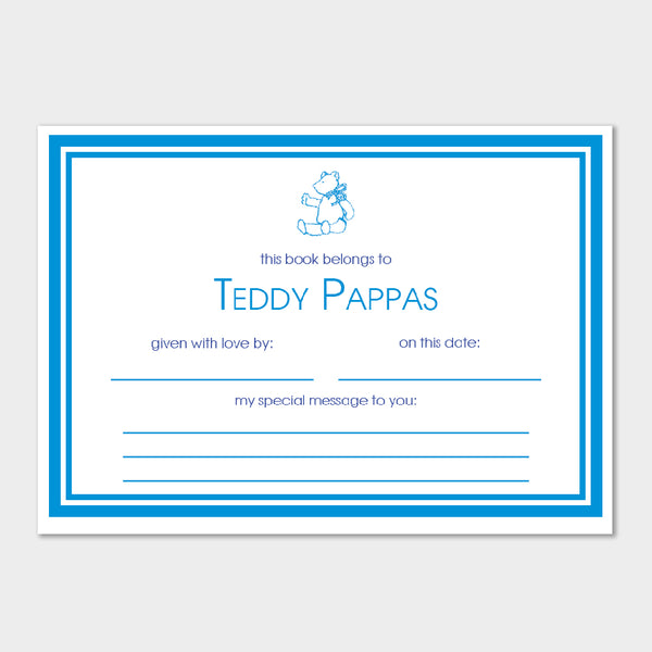 Teddy Bear Fill In Book Plates