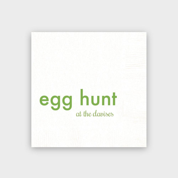 Egg Hunt at the... White Napkins