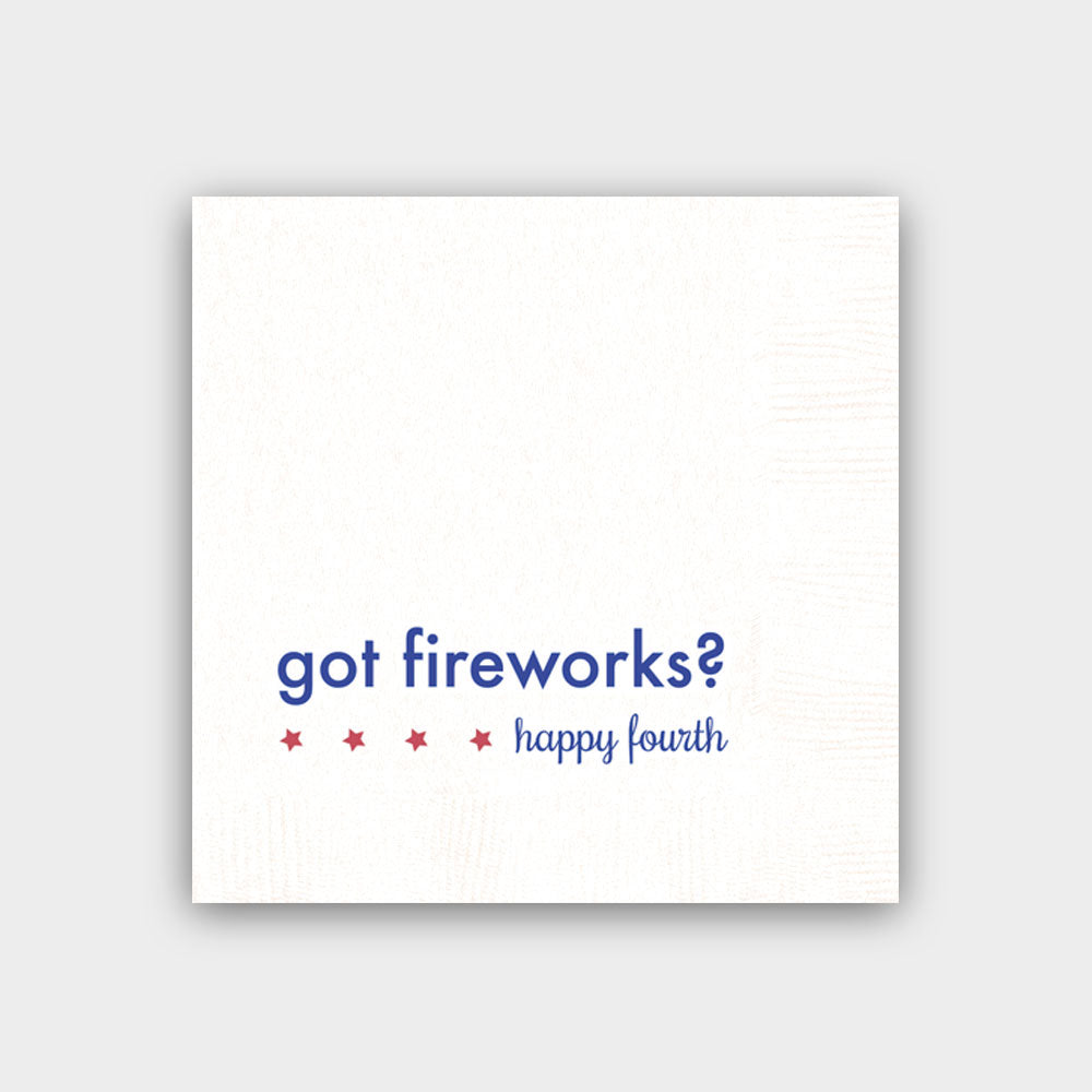 Got Fireworks White Napkins