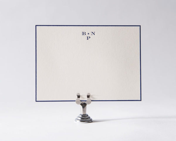Engravers Monogram Social Stationery