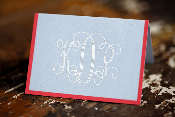 Kathryn Monogram Enclosure Cards