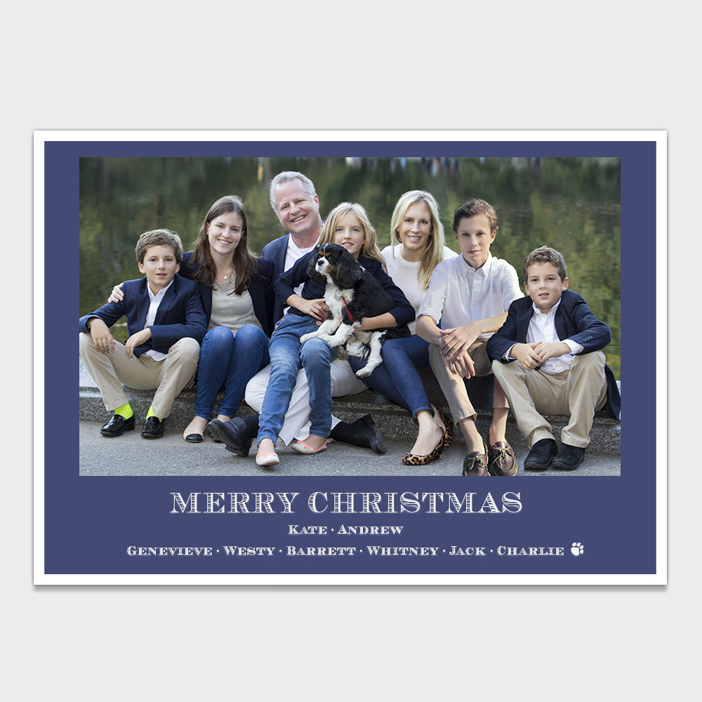Navy Blue Blazer Christmas Card