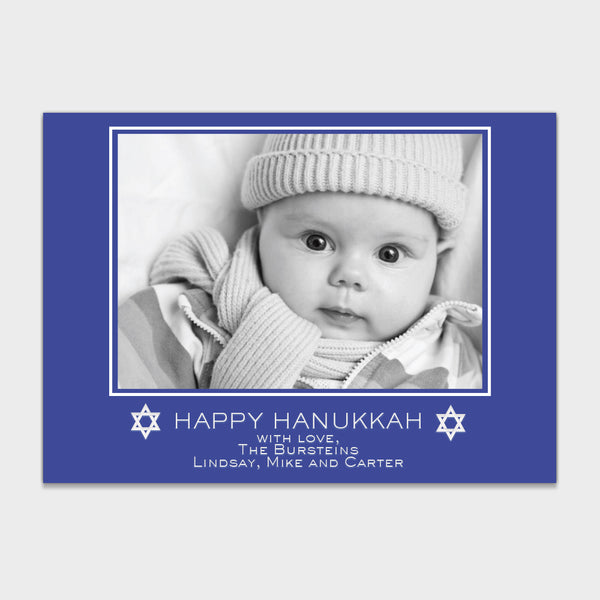 Simple Blue Hanukkah Card
