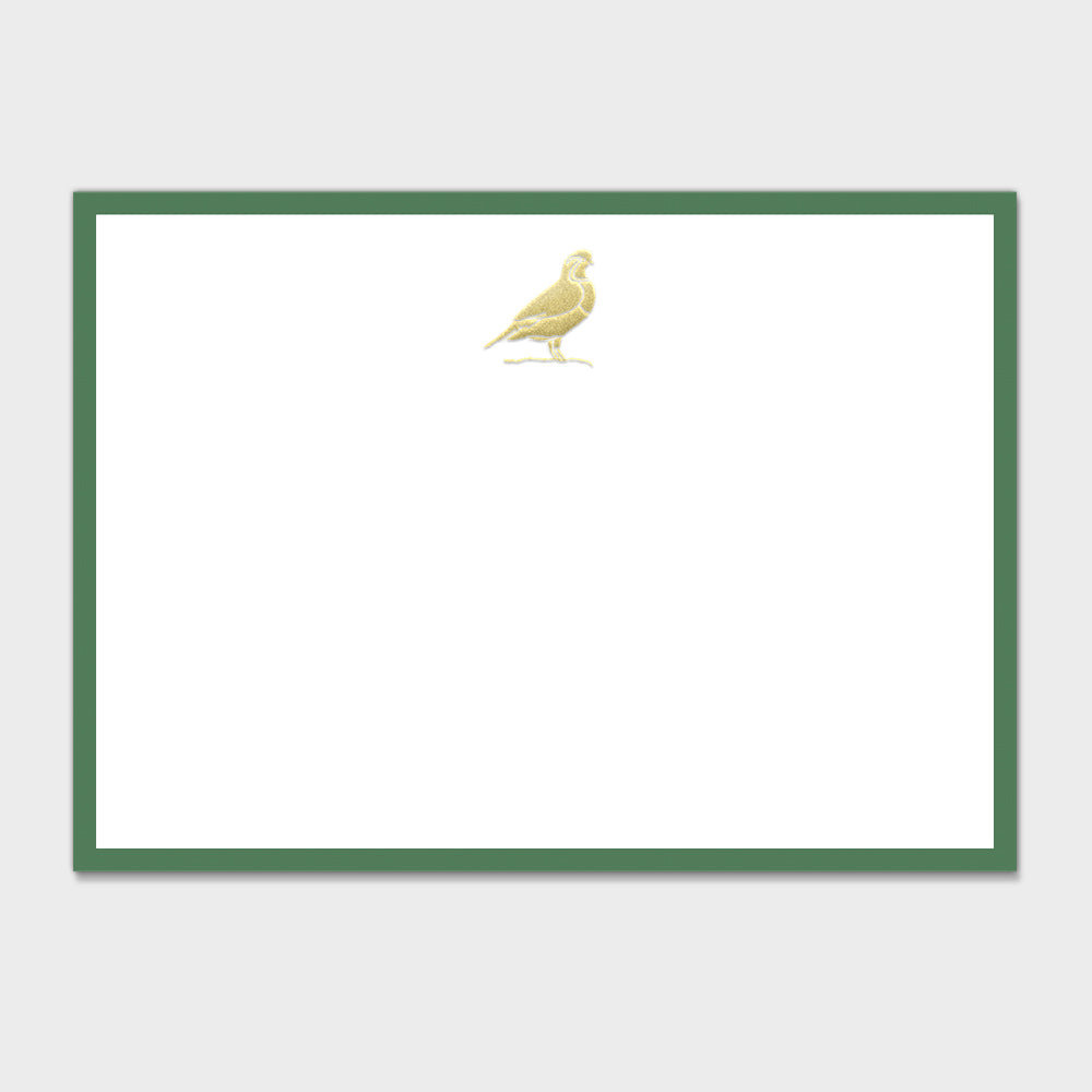 Quail Note Cards