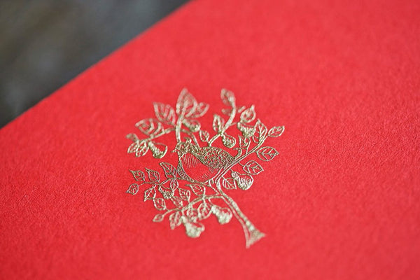 Engraved Holiday Partridge Note Cards