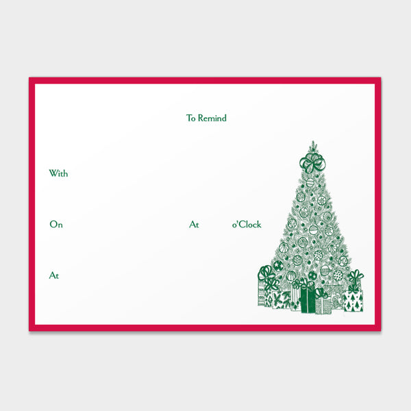 "Christmas Tree ""To Remind"" Note Cards"