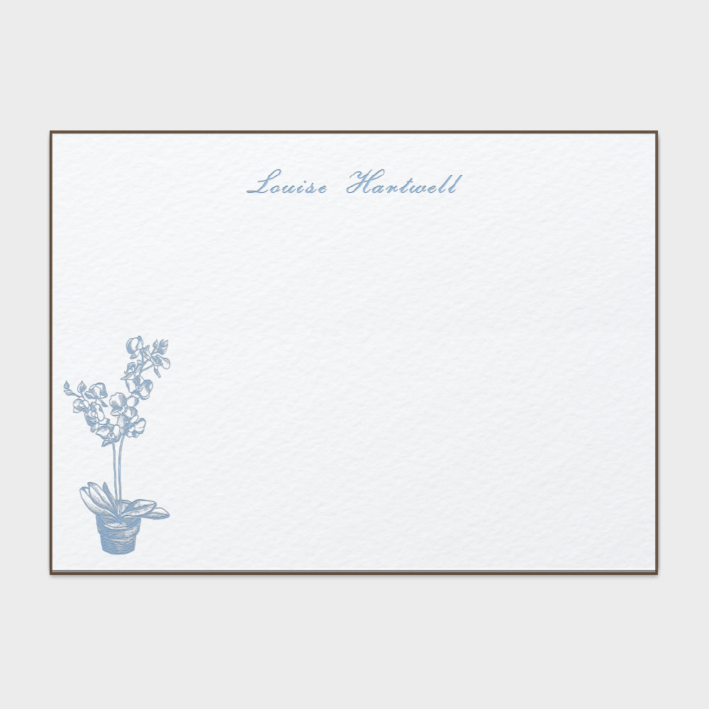 Bluebell Orchid Stationery