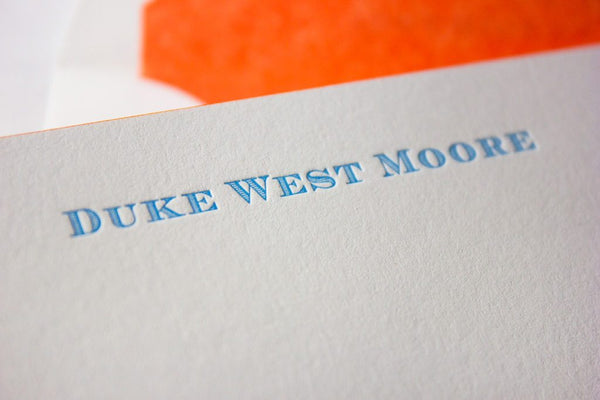Duke Letterpress Gift Set