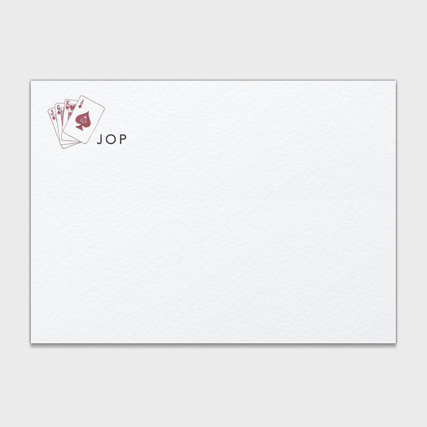 Jack Playing Cards Stationery