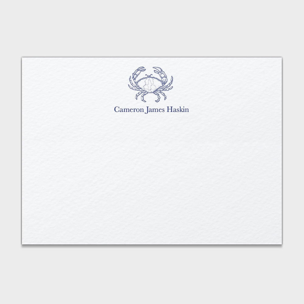 Haskin Crab Stationery
