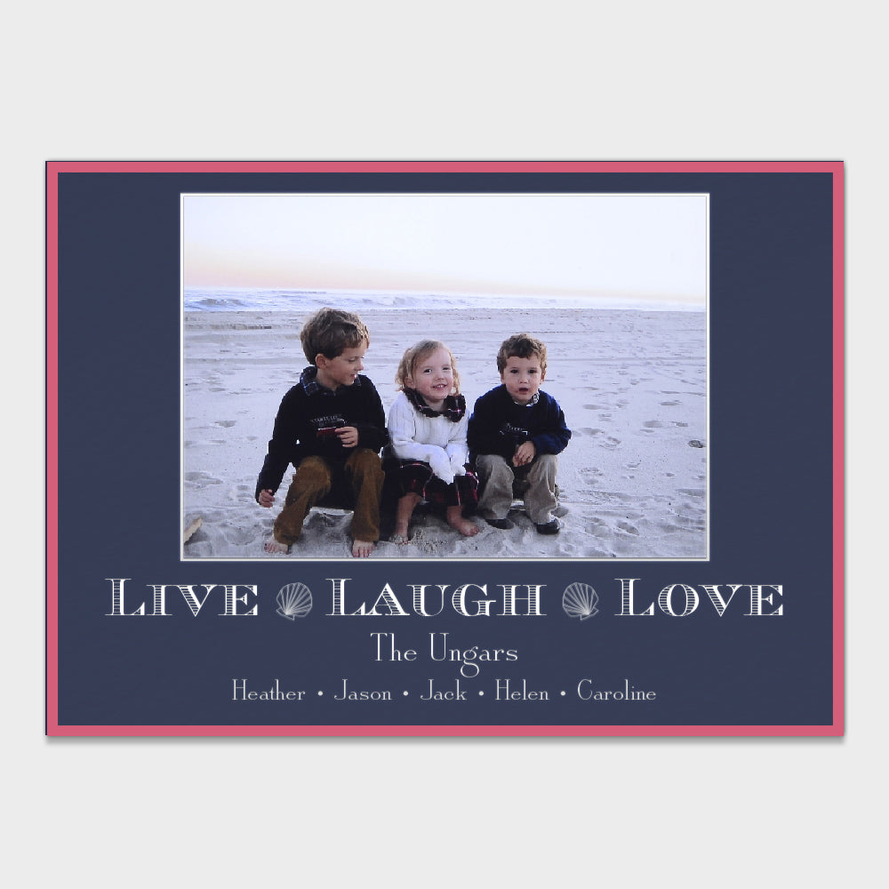 Live Laugh Love Holiday Card