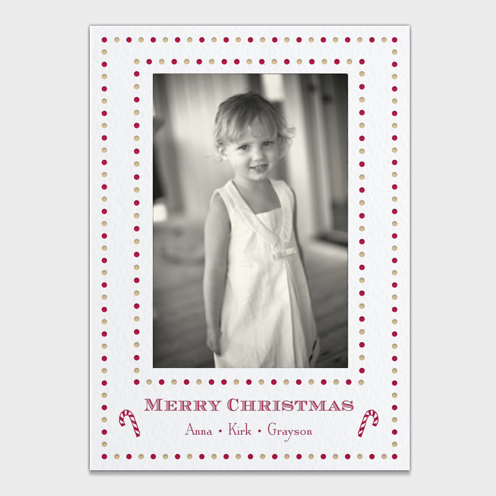 Holiday Dots Christmas Card