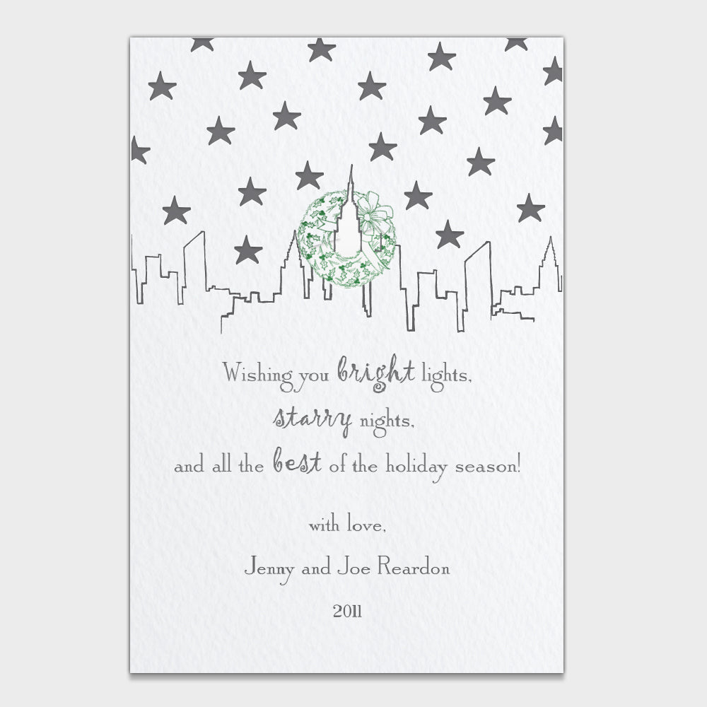 Bright Lights Holiday Card