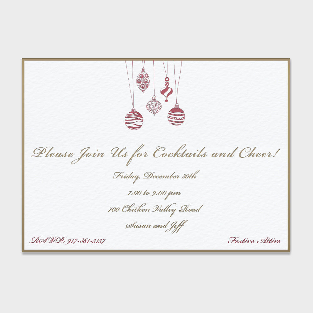 Hanging Ornaments Invitation