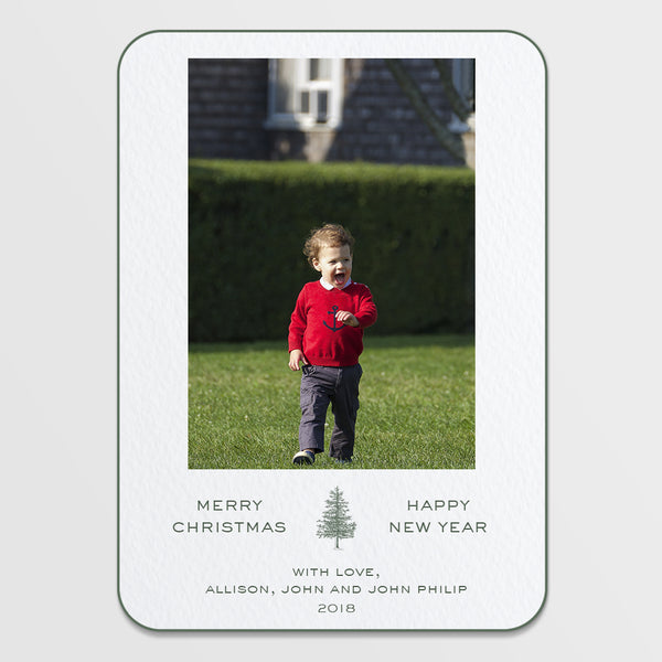 New Year Pine Holiday Card