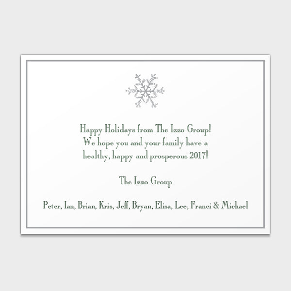 Foil Snowflake Corporate Holiday Card
