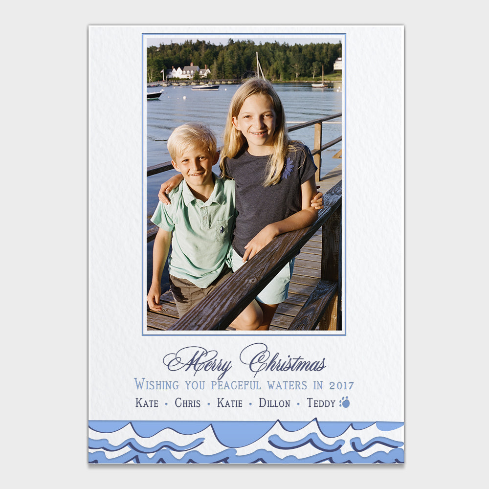 Peaceful Waters Holiday Card