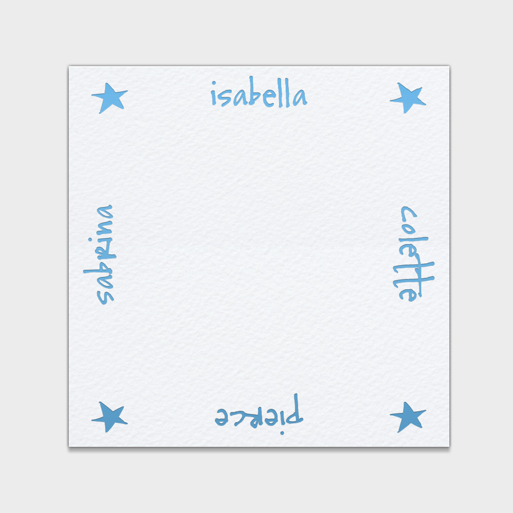 Stars Family Stationery