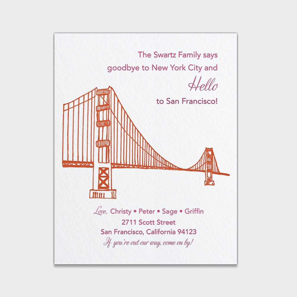 Golden Gate Moving Card