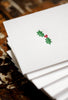 Holly Folded Note Cards