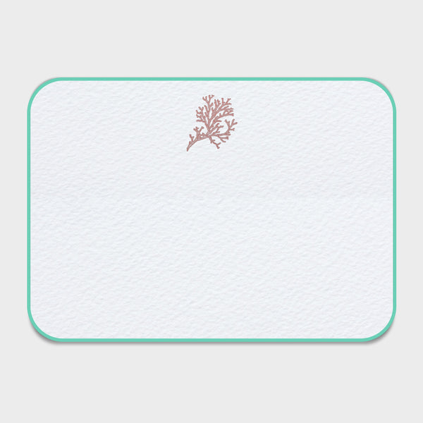 Coral Note Cards