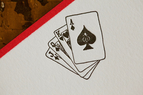Poker Player Note Cards