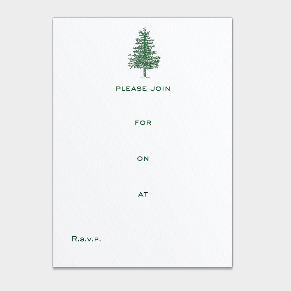 Winter Pine Fill In Invitations