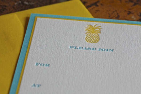 Pineapple Fill In Invitations