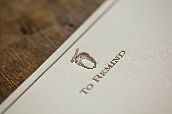 "Acorn ""To Remind"" Note Cards"