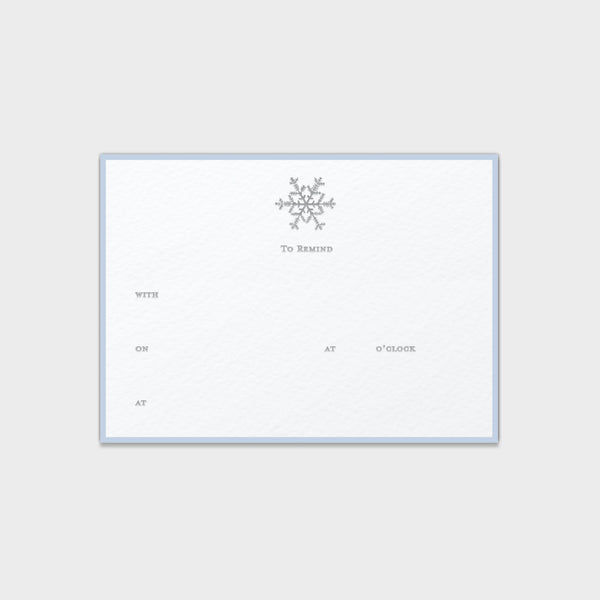 "Snowflake ""To Remind"" Note Cards"
