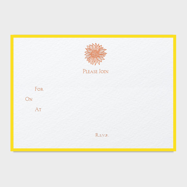 Sunflower Fill In Invitations