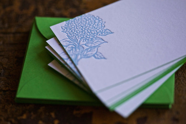 Blue Hydrangea Enclosure Cards