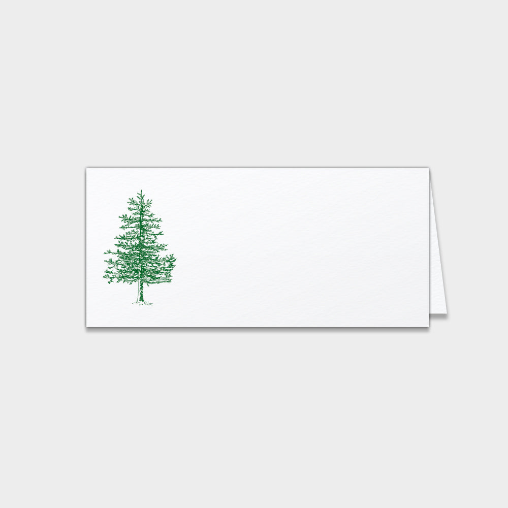 Winter Pine Place Cards